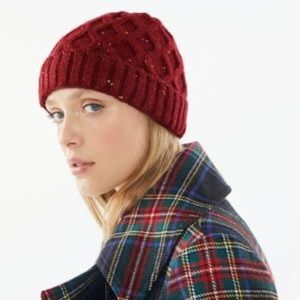 UO | NWT Chunky Knit Red Cable Beanie